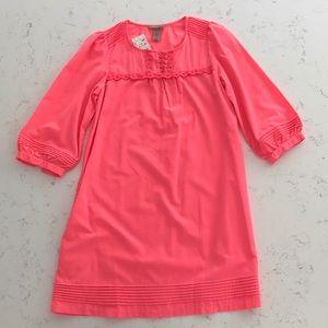 NWT H&M Neon Pink summer swing dress Sz 4